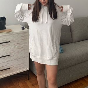 Oversized White Hoodie
